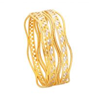 Gyrus Gold Bangles by KaratCraft