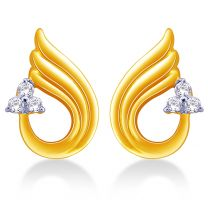 Isis Diamond Earrings Studs by KaratCraft