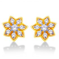 Athena Earrings Studs by KaratCraft