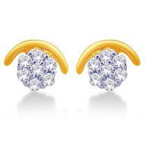 Crescent Stud Earrings by KaratCraft