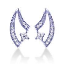 Freya Diamond Mesh Earrings Studs by KaratCraft