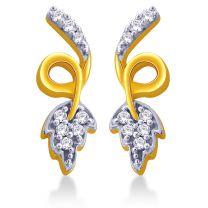 Catenary leaf Earrings Studs by KaratCraft