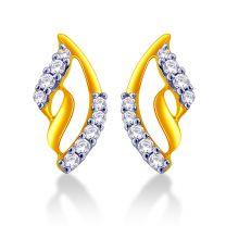 Petiole Earrings Studs by KaratCraft