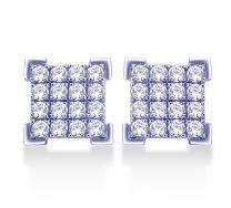 Lattice Diamond box studs by KaratCraft