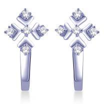 Fordin Diamond Hoops by KaratCraft