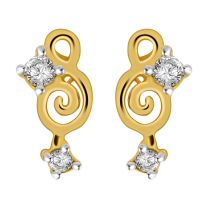 Melody Earrings Studs by KaratCraft