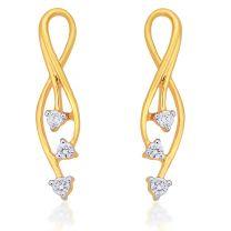 Trinity 3 Stone Earrings by KaratCraft