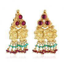 Trivima Earrings by KaratCraft