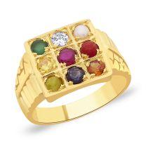 Chandra Navratna Gold Ring by KaratCraft