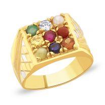 Budha Navratna Gold Ring by KaratCraft