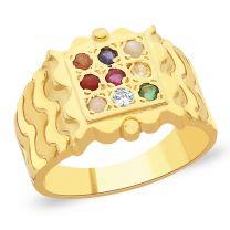 Shukra Navratna Gold Ring by KaratCraft