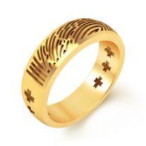 Indiana Fingerprint Engraving Ring by KaratCraft