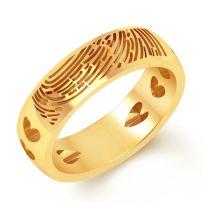 Huella Fingerprint Wedding Band by KaratCraft