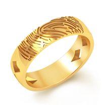 Marco Fingerprint Engagement Ring by KaratCraft