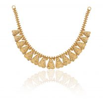Hrihdya Gold Necklace by KaratCraft