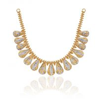 Charulata Gold Necklace by KaratCraft