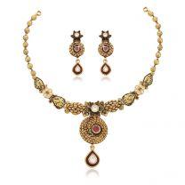 Kundala Necklace Set by KaratCraft