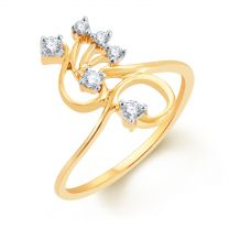 Artifex Diamond And Gold Ring by KaratCraft