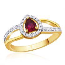 Perla Ruby Ring by KaratCraft
