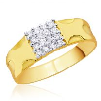 Esin Mens Gold Ring by KaratCraft