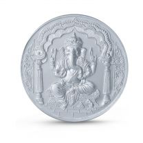 Ganesha Pure 999 Silver Coin by KaratCraft