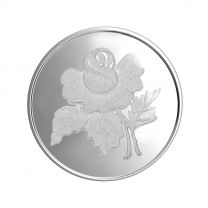 Rose 50 gram Silver Coin by KaratCraft