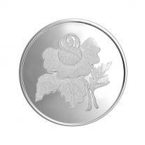 Rose 50 gram Silver Coin by KaratCraft