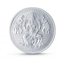 Laxmi 100 gram Silver Coin by KaratCraft