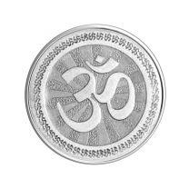 Om  100 gram Silver Coin by KaratCraft