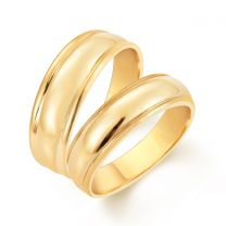 Golden Love Wedding Rings by KaratCraft