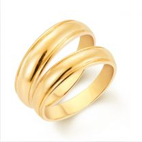 Trust Me Couple Wedding Rings by KaratCraft