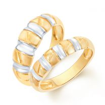 Love Me Couple Wedding Bands by KaratCraft