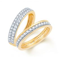 Path Of Love Wedding Band by KaratCraft