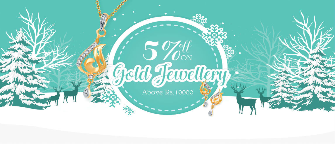 5% off on Gold jewelry above Rs. 1000