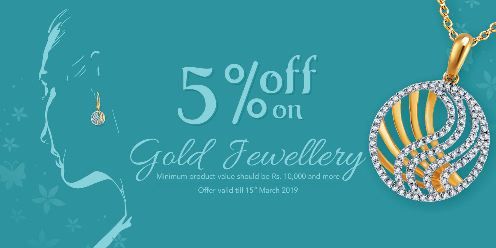 5% off on Gold Jewellery