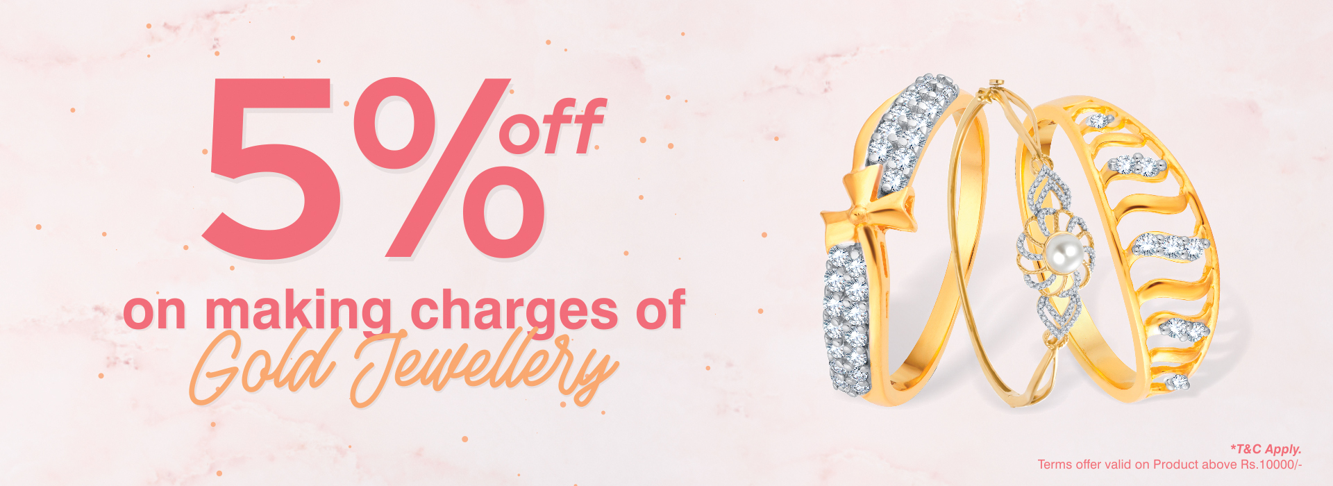 5% off on making charges of Gold Jewellery