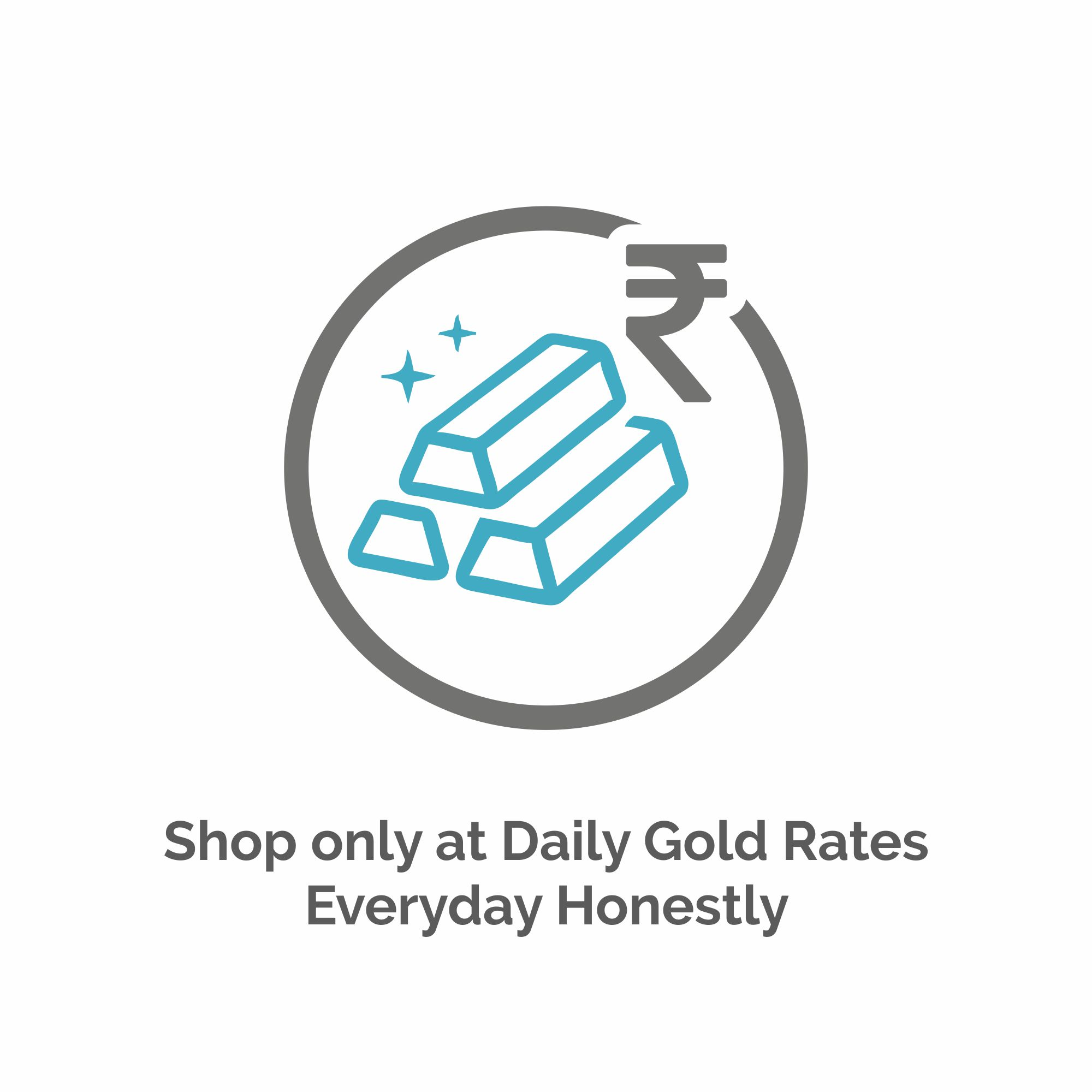 Shop only at Daily Gold Rates - Everyday Honestly..